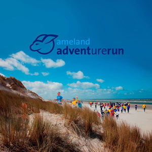 Ameland Adventurerun: lopers in het centrum van Nes
